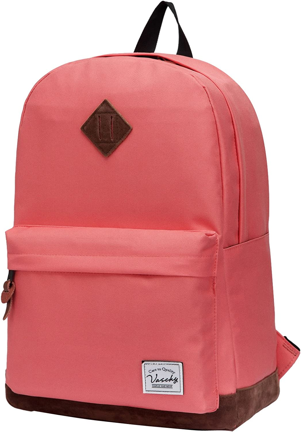 (Watermelon Red) - Vaschy Classic Backpack for Women Lightweight School Backpack for Girls Water Resistant Campus School Rucksack Travel Backpack Fits 36cm Laptop (Watermelon Red)