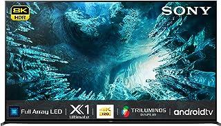 تلفزيون سوني الذكي 85 بوصة، بنظام اندرويد شاشة فل اراي ليد بدقة 8 كيه ونطاق ديناميكي عالي من سلسلة Z8H، موديل KD-85Z8H