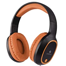 ZEBRONICS Zeb-Thunder Wireless Bluetooth Over The Ear Headphone with Mic (Brown)
