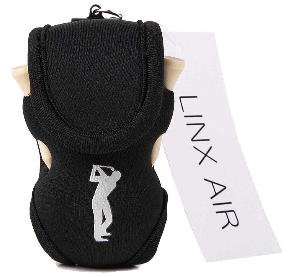 株式ジョージスティーブンソンキャリッジ(LINX AIR) ゴルフポーチ ボールケース [ 正規品 ] ボール入れ 軽量 ティー付き 全6色 + ロゴなし2色
