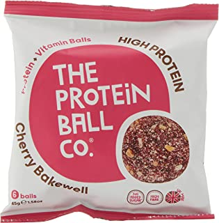 The Protein Ball Co. High Protein and Vitamin Cherry Bakewell Protein Balls (Pack of 10), 450 g
