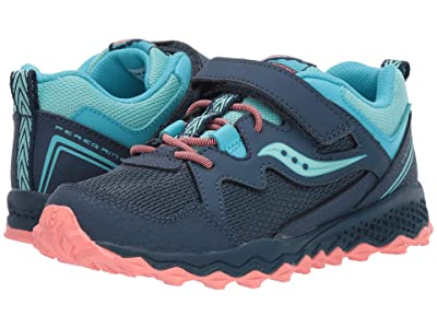 Saucony Kids Peregrine Shield 2 A/C (Little Kid/Big Kid) (Navy/Turquoise) Girls Shoes