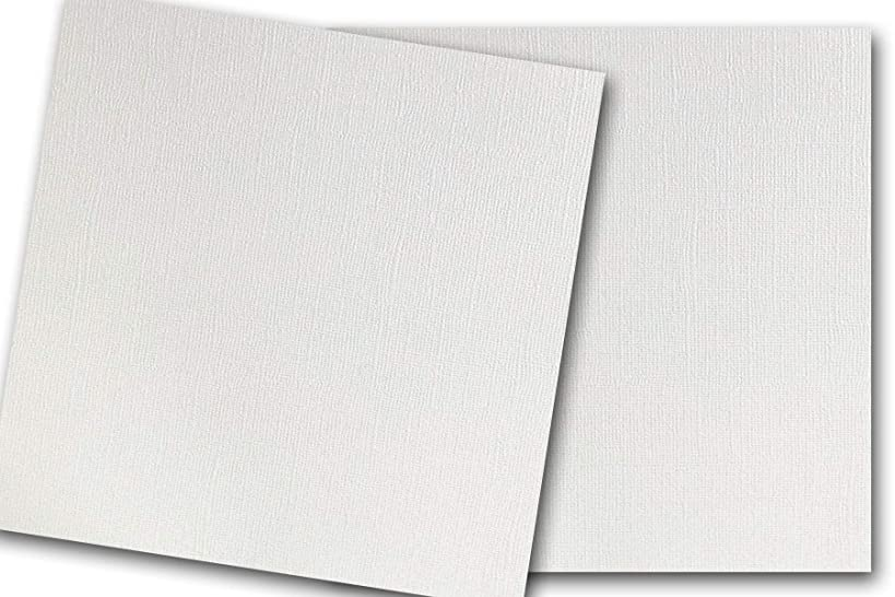 Premium Pearlized Metallic Textured Wedding Cake White Card Stock 20 Sheets - Matches Martha Stewart Wedding Cake - Great for Scrapbooking, Crafts, Flat Cards, DIY Projects, Etc. (12 x 12)