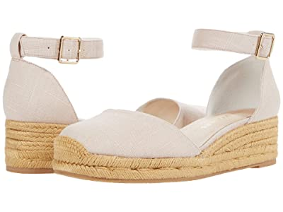 Jack Rogers Palmer Closed Toe Mid Wedge (Desert Sand) Women