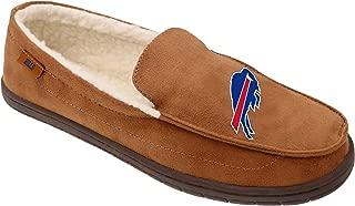 FOCO NFL Mens Beige Team Logo Moccasin Slippers Shoe