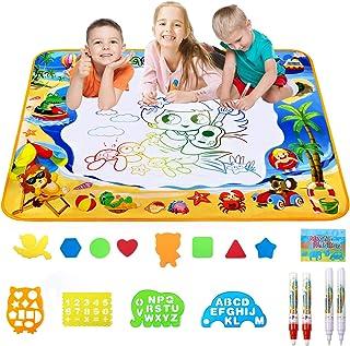 اسباب بازی Toyard Doodle Mat ، آبزیان بزرگ Aqua Magic Water Drawing هدایای اسباب بازی برای پسران دختران کودکان نقاشی نوشتن پد نوشتن اسباب بازی های آموزشی آموزشی برای کودکان نوپا