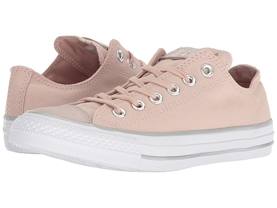 Converse Chuck Taylor(r) All Star Tipped Metallic Toecap Ox (Particle Beige/Silver/White) Women