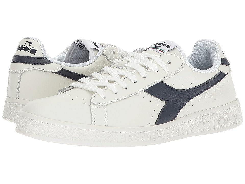 Diadora Game L Low (White/Dress Blues/White) Men's Shoes