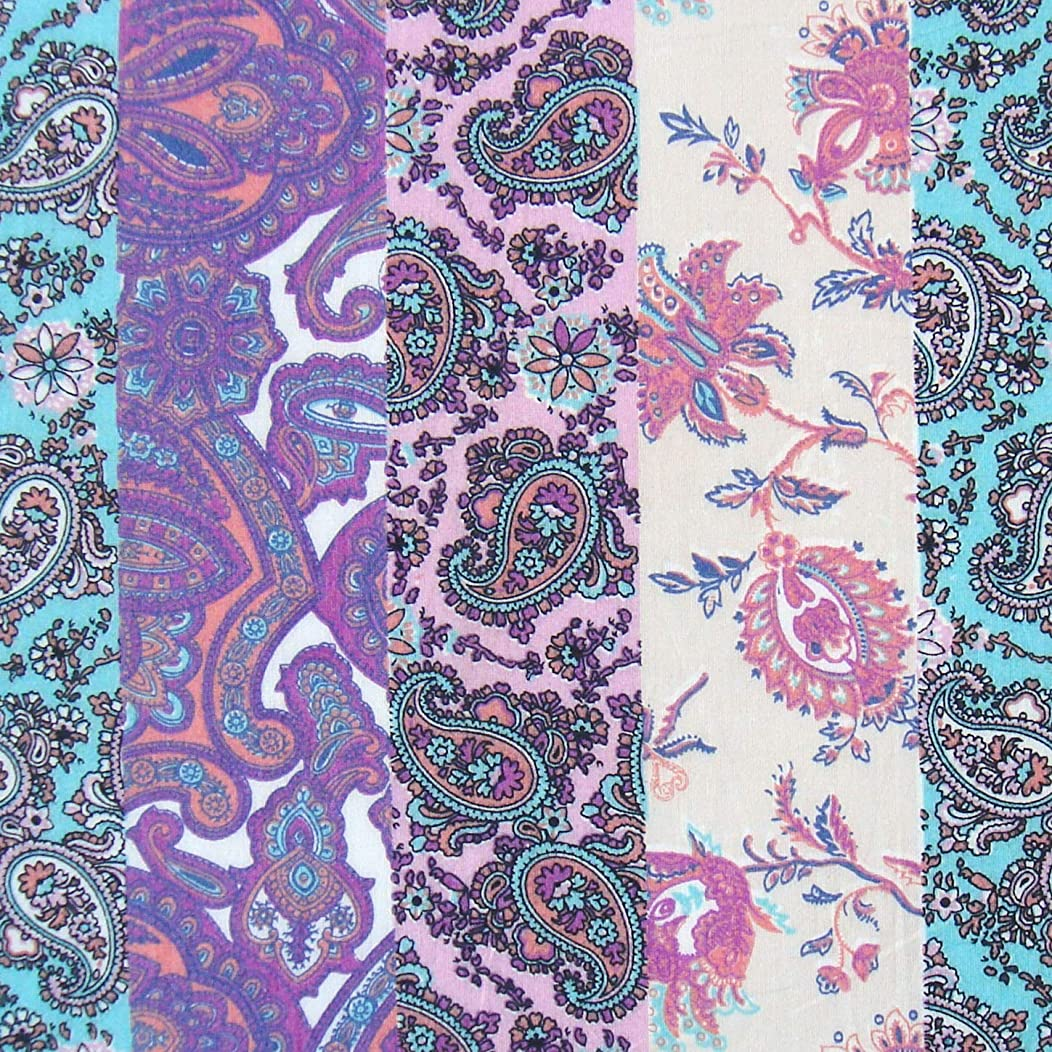 Paisley Print Indian Cotton Fabric for Craft and Sewing 1 Yard by Craftbot
