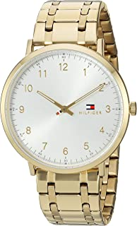 Tommy Hilfiger Men's Sophisticated Sport Quartz Watch with Gold-Plated-Stainless-Steel Strap, Tone, 20 (Model: 1791337)