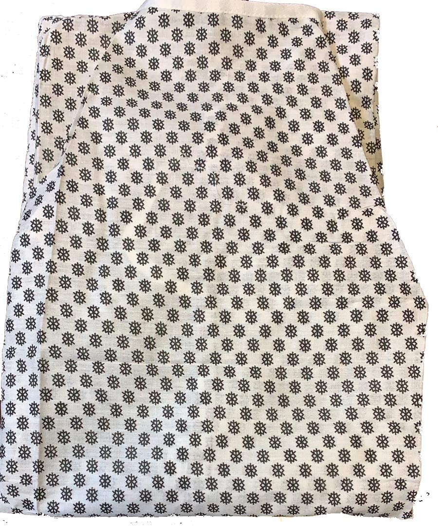 2-Pc Economy Medical Patient Gown, Snowflake Print, Bulk Packed