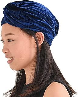 Womens Fortune Teller Turban - Gypsy Costume Mens Velvet Genie Boho Hat