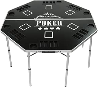 World Outdoor Products 2019 Professional HIGH Roller Tour Lightweight Portable Folding Poker Table