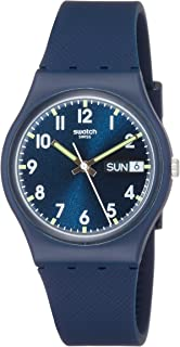 Swatch Womens Quartz Watch, Analog Display and Rubber Strap GN718