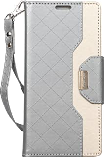 ProCase Galaxy Note 9 Wallet Case, Flip Kickstand Case with Card Slots Mirror Wristlet, Folding Stand Protective Cover for Galaxy Note 9 2018 -Grey