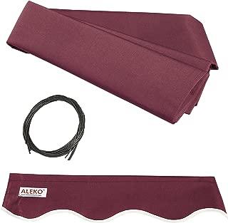 ALEKO FAB13X10BURG37 Retractable Awning Fabric Replacement 13 x 10 Feet Burgundy