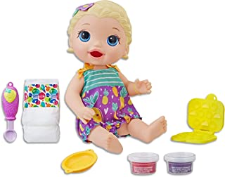 Baby Alive - Super Snacks Snackin Lily Baby - Blonde Hair Doll that eats - Reusable Food - Kids Interactive Toys - Ages 3+