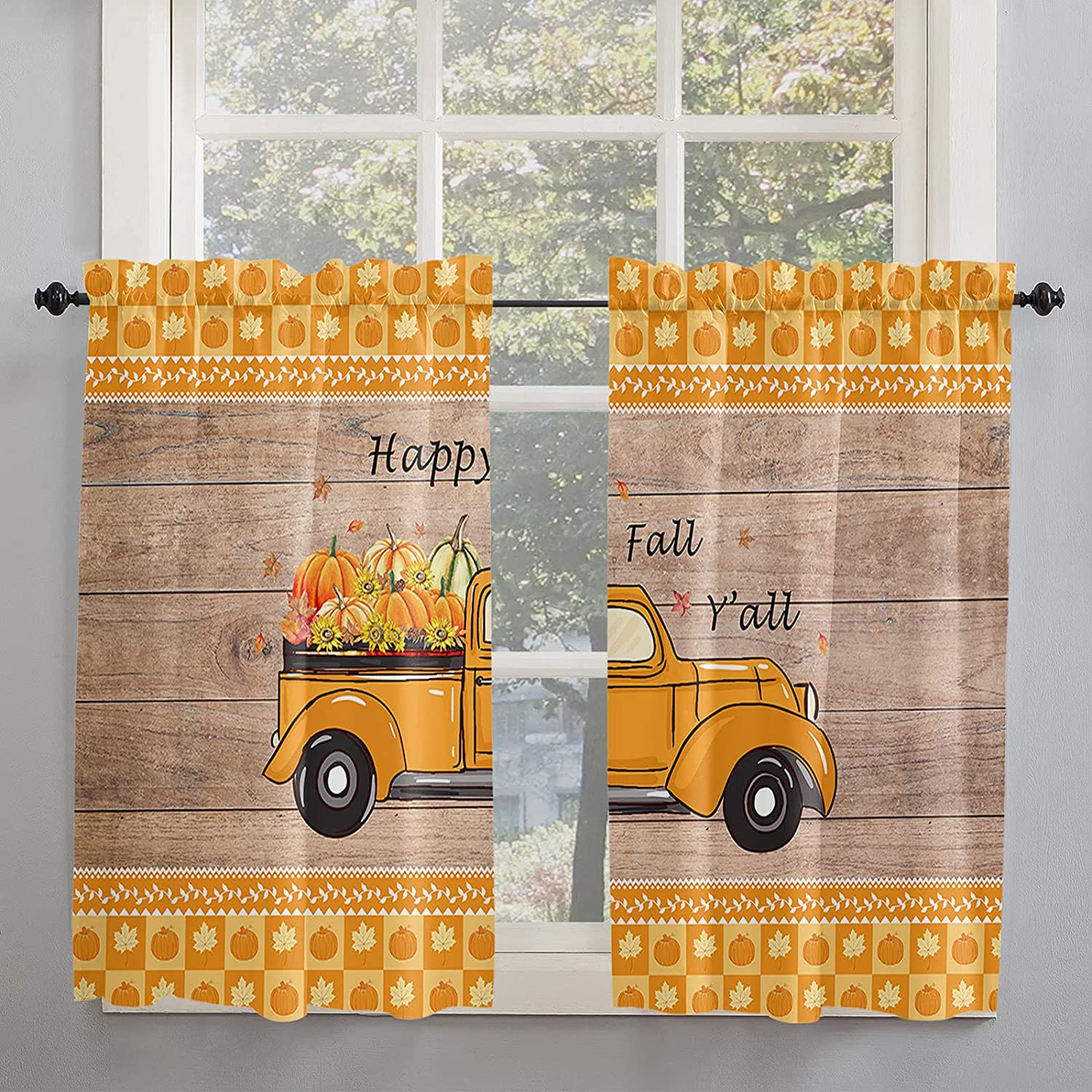 Harvest Fresh Spasm Classic price Vegetables Fruits Kitchen Inch Curtains 45 Length