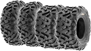 Set of 4 SunF Power.II ATV UTV Tires 23x7-10 Front & 22x10-10 Rear, All-Terrain Off Road, 6 PR, A051