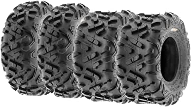 Set of 4 SunF Power.II ATV Go-Kart Tires 145/70-6 (14x6-6) Front & 16x8-7 Rear, All-Terrain Off Road, 6 PR, A051
