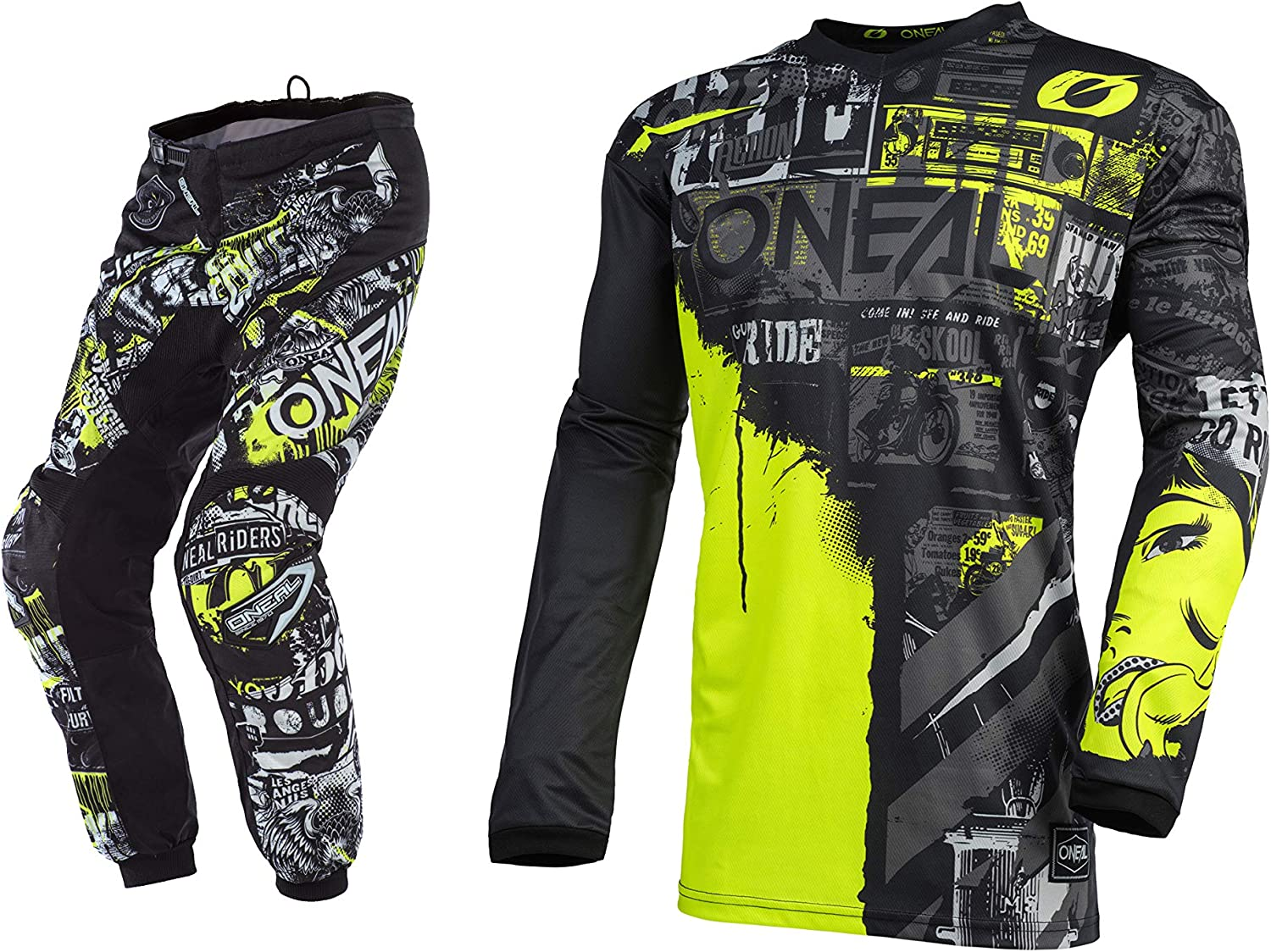 Oneal Youth Easy-to-use Kids Element Ride Attack Super special price XLar Jersey Combo Pant YTH