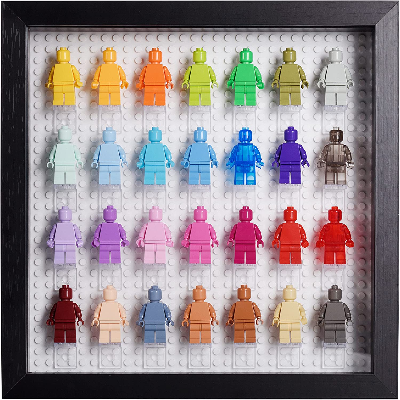 Tapeera Black Wooden Minifigure Finally popular brand Display Memorabilia Displ - Austin Mall Case