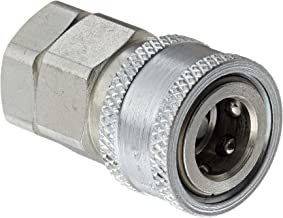 """Snap-Tite VHC6-6F Zinc-Plated Steel H-Shape Quick-Disconnect Hose Coupling, Sleeve-Lock Socket, 3/8"""" NPTF Female x 3/8"""" Coupling Size"""