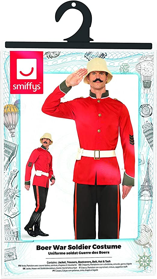 Medium Fun Shack Mens Boer War British Soldier Costume Adults Historic Military Uniform