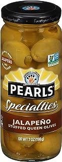 Pearls Specialties 7 oz. Jalapeno Stuffed Queen Olives, 6-Jars