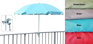 Baldacchino in Poliestere UV 50+ Parasole Protezione Solare Borsa da Trasporto SONGMICS Ombrellone Costole in Fibra di Vetro Meccanismo Inclinazione /Ø 160 cm Beige GPU60WTV1