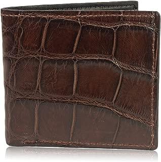 Genuine Alligator Skin Leather Bifold Wallet Handmade