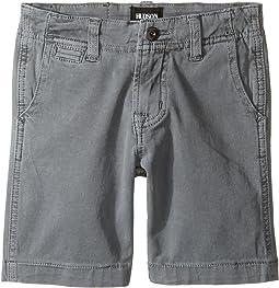 Hudson Kids - Sunny Pigment Dyed Twill Shorts in Medium Grey (Toddler/Little Kids/Big Kids)