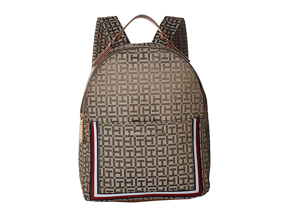Tommy Hilfiger Carmen Backpack (Khaki Tonal) Backpack Bags