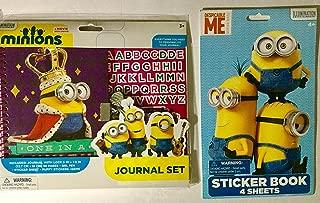Minions Despicable Me Journal Set Plus Minions 4-page Sticker Book