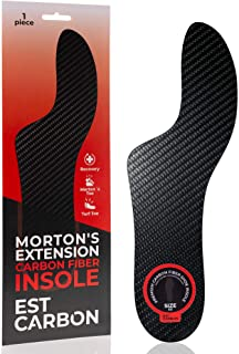 Morton´s Extension Orthotic, 1 Piece, Carbon Fiber Insole, Very Rigid Foot Support Insert Best for Morton`s Toe, Turf Toe,...