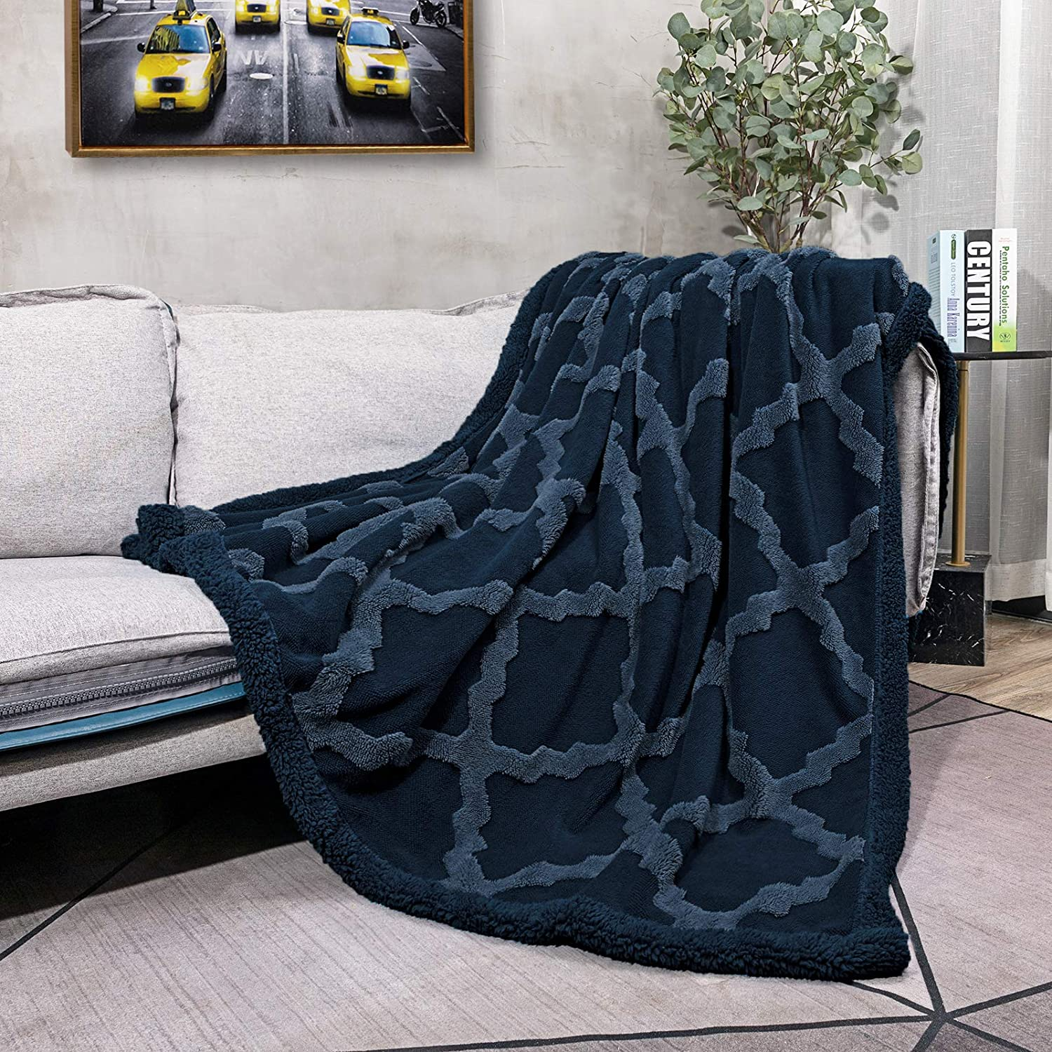CAMPIR Sherpa Max 71% OFF Throw Blankets for Couch Special price Warm Dual Soft Side Super