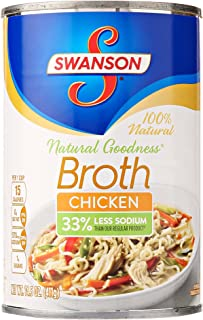 Swanson Natural Goodness Chicken Broth, 33% less sodium, 14.5 oz
