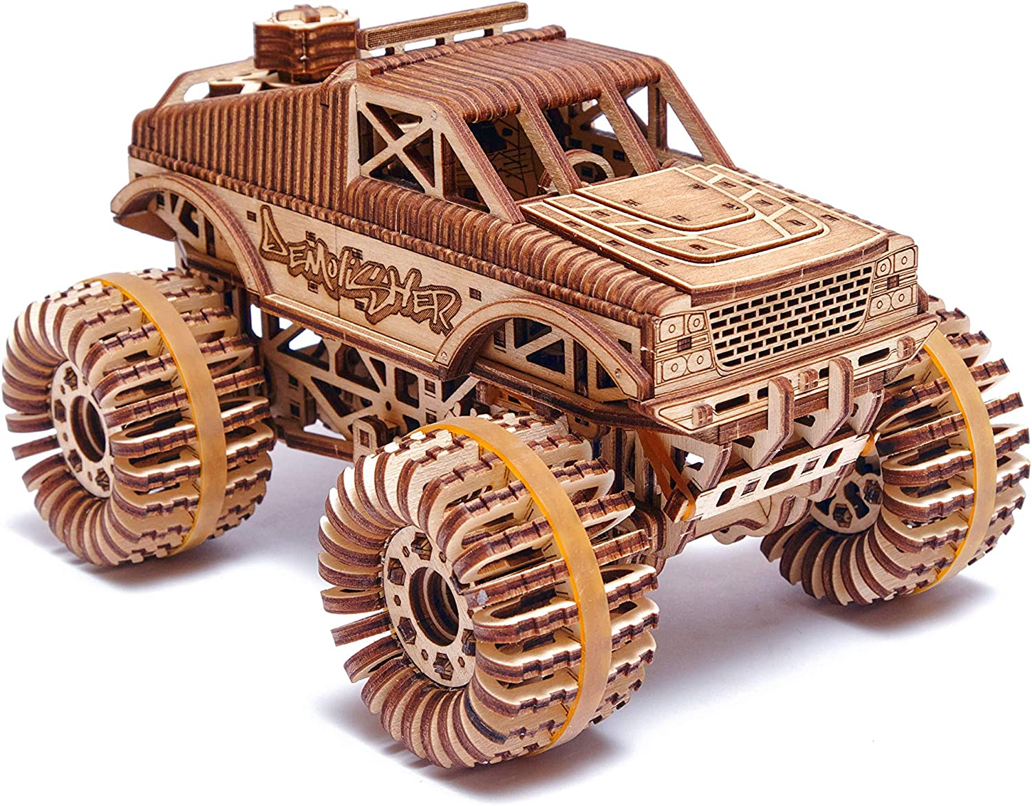 Wood Trick Monster Max 83% OFF Las Vegas Mall Pickup Truck Car up 3D Wooden Puzzle - Rides
