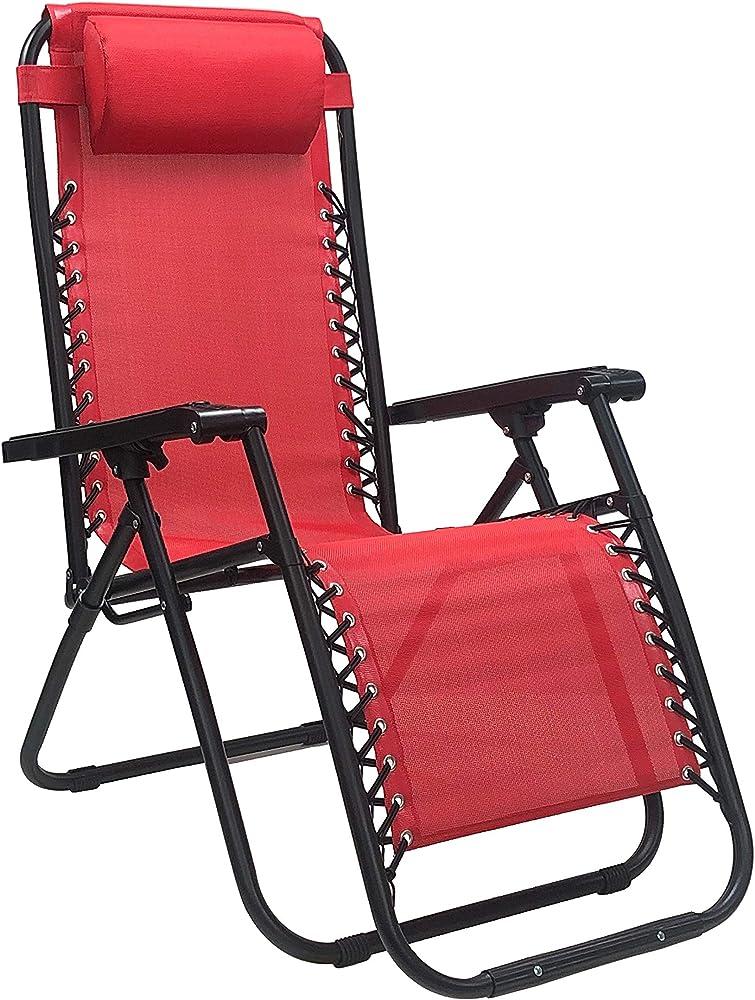 Totò piccinni sedia a sdraio gravity reclinabile in acciaio e tessuto in textilene