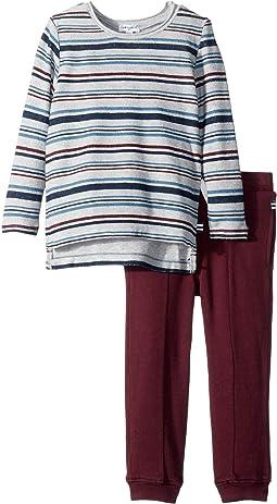 Yarn-Dyed Sweatshirt Set (Toddler)