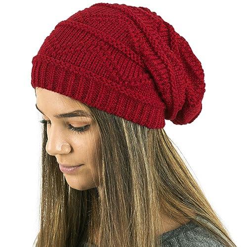 d6bc40db03f44 TOSKATOK Ladies Knit Slouch Winter Hat Beanie