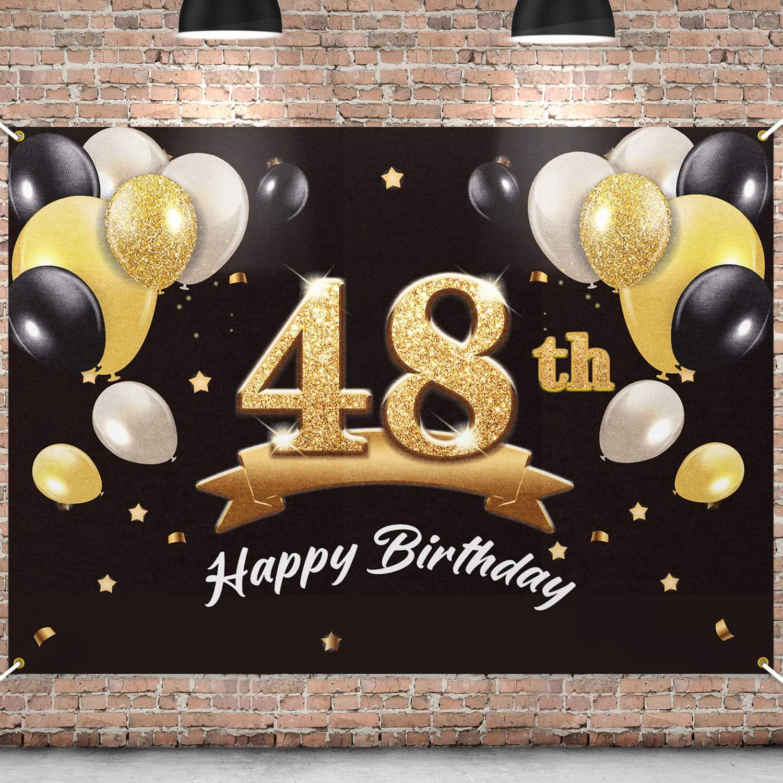 PAKBOOM 2021new shipping free Happy 48th Birthday Banner Backdrop Superlatite - Party 48