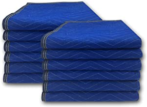 """uBoxes Pro Economy Moving Blankets (12 Pack) 35lbs/doz 2.92lb/ea 72""""x80"""" Color May Vary"""