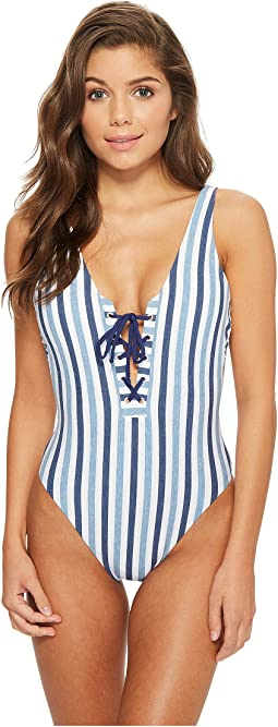 Splendid - Tie-Dye Stripe One-Piece