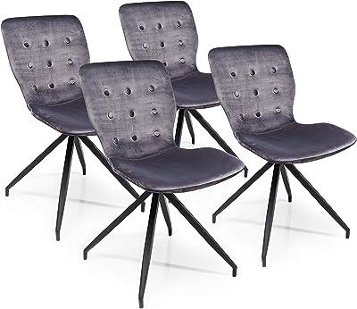 Kare Lot de 4 chaises Butterfly Gris foncé