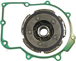 yjracing Wet Clutch Pad Shoe with Gasket Fit for 2004-2007 Yamaha Rhino 660 YFM660 YXR660 /& 2002-2008 Yamaha Grizzly 660