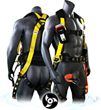 KwikSafety (Charlotte, NC) TYPHOON   ANSI Fall Protection Full Body Safety Harness   Personal Protective Equipment   Dorsal Ring Side D-Rings Grommet Leg Straps Tool Lanyard Bolt Pouch, Construction