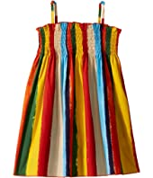Dolce & Gabbana Kids - Painterly Striped Poplin Dress (Toddler/Little Kids)