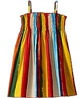 Painterly Striped Poplin Dress (Toddler/Little Kids)