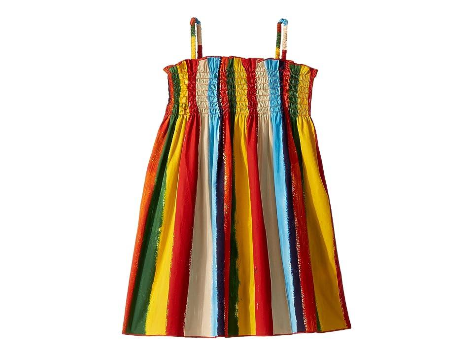 Dolce & Gabbana Kids Painterly Striped Poplin Dress (Toddler/Little Kids) (Multi Stripe) Girl